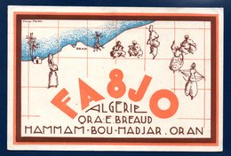 Algérie. Hammam-Bou-Hadjar. Oran.  FA 8 JO .  73. E. Breaud - Radio
