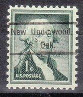 USA Precancel Vorausentwertung Preo, Locals South Dakota, New Underwood 809 - Vereinigte Staaten