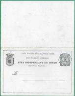 ! - Congo - Carte Postale Avec Réponse Payée - Etat Neuf Impeccable - Republic Of Congo (1960-64)