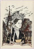 CPSM - Illustration H.A.FRESIL - COIFFES EN BRETAGNE - DINAN - Edition De L'auteur - Bretagne