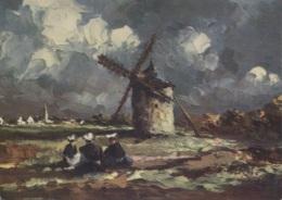 CPSM - ILLUSTRATION BRETONNE - PTE DU VAN - VIEUX MOULIN A CLEDEN CAP SIZUN - Edition Yvon - Bretagne