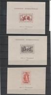 Exposition Internationale 1937 Lot De 3 Blocs ( à Voir 3 Scans) - 1937 Exposition Internationale De Paris