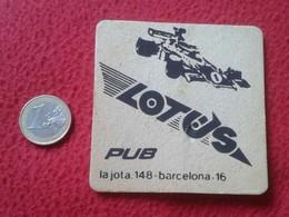 POSAVASOS COASTER LOTUS PUB LA JOTA 148 BARCELONA CATALONIA SPAIN F1 FORMULA 1 ? CLUB ? VER FOTO/S Y DESCRIPCIÓN CARS - Beer Mats