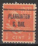 USA Precancel Vorausentwertung Preo, Locals South Dakota, Plankinton 723 - Vereinigte Staaten