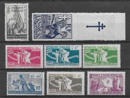 COLONIES GENERALES  - FRANCE LIBRE - YVERT N° 60/66 + PA1 * CHARNIERE TRES LEGERE - COTE = 57.5 EURO - Frankreich (alte Kolonien Und Herrschaften)