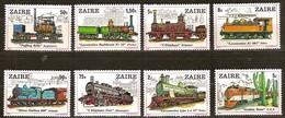 Zaire 1980 OCBn°  992-999  *** MNH Cote 11,00 Euro Chemin De Fer Treinen Trains - Zaire