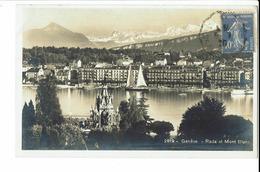 CPA - Carte Postale - Suisse - Genève - Rade Et Mont Blanc-1929- S617 - GE Geneva