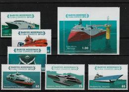 Cuba -2016 - Modern Ships - Complete Set + S/S --MNH (**) - Bateaux
