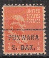USA Precancel Vorausentwertung Preo, Locals South Dakota, Pukwana 717 - Vereinigte Staaten