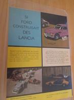 CLI618 Rubrique STARTER JIDEHEM : MINIATURES POLISTIL , 2 Feuilles 2 Pages Découpées Dans Revue Spirou Des 60/70's - Auto/Moto