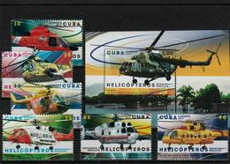 Cuba -2017 - Helicopters Complete Sez+ S/S-MNH (**) - Helicopters
