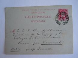 Belgique Entier Postal Postwaardestuk 1890 10 Ct Leopold II Malines Station -> Brozzi Italie - Ganzsachen