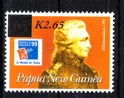 Papua N, Guinea  -  2001. R.J. Bruni D'entrecasteaux, Navigatore. Seefahrer. Stamp On Stamp. MNH - Esploratori