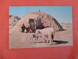 Navajo Indians At Door To Their Hogan   Ref 2999 - Native Americans