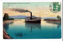 CPA - Carte Postale - Suisse - Canal De La Broye- Sortie Du Lac De Morat- 1911 - S621 - VD Vaud