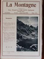 La Montagne N°131 (juin-août 1918) Chaîne De Belledonne - Alpins Au Monte Tomba - Boeken, Tijdschriften, Stripverhalen