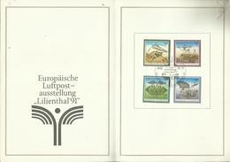 """DDR ETB 1/90 """"Historische Flugmodelle Zur Europ. Luftpostausstellung -Lilienthal '91-"""" Ersttagssonderst. Mi.-Preis 8,00 - DDR"""