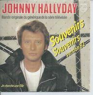 """CD 2 TITRES - JOHNNY HALLYDAY   - """" SOUVENIRS SOUVENIRS - Version 82 """"  + """" JE CHERCHE UNE FILLE """" - Musique & Instruments"""