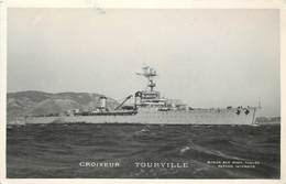 """CROISEUR """"Tourville"""" (Photo Marius Toulon). - Guerre"""