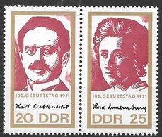 DDR 1971 / MiNr.   1650 – 1651  Paar   ** / MNH   (f640) - DDR