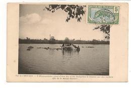 CPA RIVIERE CHIN-KO / HIPPOPOTAME TUE HISSE AU BORD DES ROCHERS / 1913 - Congo Français - Autres