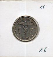Belgique. Good Voor 1 F. 1923 - 1934-1945: Leopold III