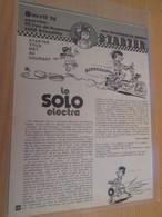 CLI618 Rubrique STARTER JIDEHEM : LE SOLO ELECTRA , 2 Feuilles 2 Pages Découpées Dans Revue Spirou Des 60/70's - Auto/Motor