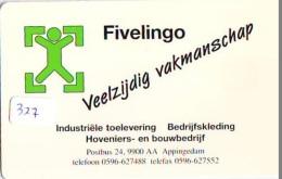 NEDERLAND CHIP TELEFOONKAART CRE 327 * FIVELINGO  *  Telecarte A PUCE PAYS-BAS * ONGEBRUIKT MINT - Netherlands
