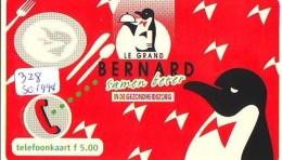 NEDERLAND CHIP TELEFOONKAART CRE 328  1994 * BERNARD * PINGUIN *  Telecarte A PUCE PAYS-BAS * ONGEBRUIKT MINT - Netherlands