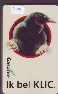 NEDERLAND CHIP TELEFOONKAART CRE 329 * GASUNIE * PINGUIN *  Telecarte A PUCE PAYS-BAS * ONGEBRUIKT MINT - Netherlands
