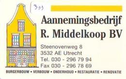 NEDERLAND CHIP TELEFOONKAART CRE 333 * Aannemingsbedrijf R. Middelkoop  *  Telecarte A PUCE PAYS-BAS * ONGEBRUIKT MINT - Netherlands