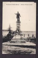 CPA 30 - AIGUES-VIVES - Statue D'Emile Jamais - TB PLAN EDIFICE - Aigues-Vives