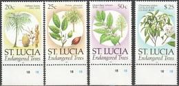Saint Lucia Sainte-Lucie 1990 Yvertn° 936-939 *** MNH Cote 25 Euro  Flore Plantes Planten Bloemen - St.Lucie (1979-...)