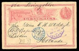 GUATEMALA. 1894. Guatemala / Netherlands. Via Paris. / 3c. Stat Card. Fine Used. Via Livingstone.. Cartas. Antonio Torre - Guatemala