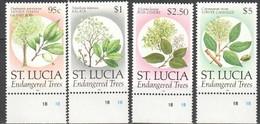 Saint Lucia Sainte-Lucie 1990 Yvertn° 954-957 *** MNH Cote 13,50 Euro  Flore Plantes Planten Bloemen - St.Lucia (1979-...)
