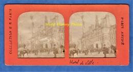 Photo Ancienne Stéréo Vers 1890 1900 - PARIS - Jour De Fête Devant L' Hôtel De Ville - Collection E.H. - Photos