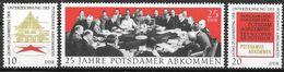 DDR 1970 / MiNr.   1598 – 1600   ** / MNH   (f664) - DDR