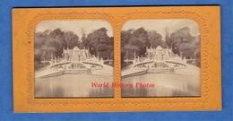 Photo Ancienne Stéréo Vers 1890 1900 - Allée De VERSAILLES - Parc / Jardin / Fontaine - Collection E.H. PARIS - Photos