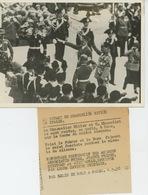 PHOTOS ORIGINALES - 1938 - Le Chancelier HITLER Et MUSSOLINI à ROME Sur La Tombe Du Soldat Inconnu - Cliché FRANCE PRESS - Personnes Identifiées
