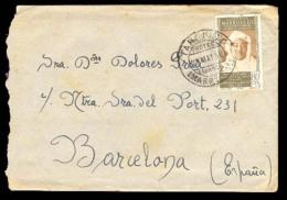 MARRUECOS. 1956. (24 Mayo). Targuist A Barcelona.. Cartas. Antonio Torres. - Morocco (1956-...)