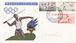 BUSTA F. D. C . - RUANDA - OLIMPIADI - 1960 - Ruanda-Urundi