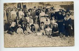 Piece De Collection - Le Treport - Cp Photo Ancienne - Datee De 1913 - Correspondance Au Verso D'Une Famille En Vacances - Lieux