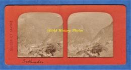 Photo Ancienne Stéréo Vers 1890 1900 - SALLANCHES - Haute Savoie Mont Blanc Alpes Collection Suisse Et Savoie - Photos