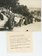 PHOTOS ORIGINALES - 1937 - AUTOMOBILES - GRAND PRIX DE MONACO - Les Mécaniciens Vérifient Voitures -Cliché FRANCE PRESS - Automobiles