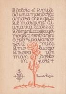 ITALIA TEMATICA FILOSOFIA E PENSATORI CARTOLINA VIAGGIATA ANNO 1944 - Filosofia & Pensatori