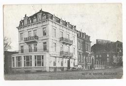 Huy Sur Meuse Quai Dautrebande Hôtel Restaurant Aigle Noir Carte Postale Ancienne - Hoei