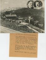 PHOTOS ORIGINALES - 1938 - L'entrevue Du Chancelier HITLER Et De CHAMBERLAIN à BERCHTESGADEN - Cliché FRANCE PRESS - Personnes Identifiées