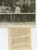 PHOTOS ORIGINALES - 1939- LONDON - Président LEBRUN à LONDRES Avec GEORGE VI , Princesse ELISABETH - Cliché FRANCE PRESS - Personnes Identifiées