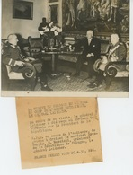 PHOTOS ORIGINALES - 1939- POLOGNE - POLAND - ESTONIE - M. MOSCICKI Et Général LAIDONER à VARSOVIE - Cliché FRANCE PRESS - Personnes Identifiées