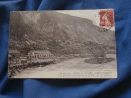 St Julien Montricher  Vue Generale De L'Usine Et Du Village Du Bochet - N° 2852 - Circulée 1917 - R205 - Sonstige Gemeinden